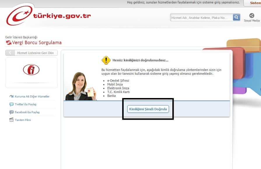 e-devlet vergi borcu sorgulama