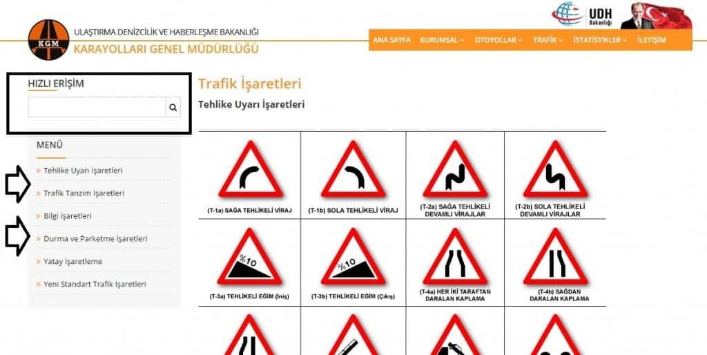 trafik işaretleri2