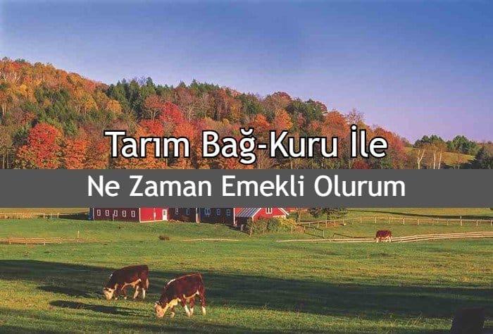 Photo of 2019 Tarım (Çiftçi) Bağ-Kuru İle Ne Zaman Emekli Olurum?