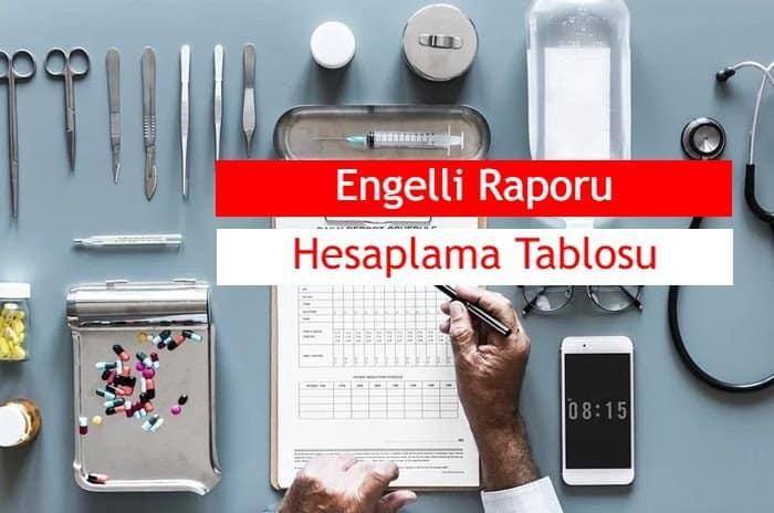 Photo of 2019 Engelli Raporu Hesaplama Tablosu