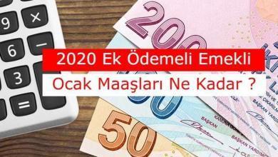 Photo of SSK, SGK ve Bağ-Kur 2020 Ocak Ayı Ek Ödemeli Emekli Maaşları Ne Kadar Olacak?